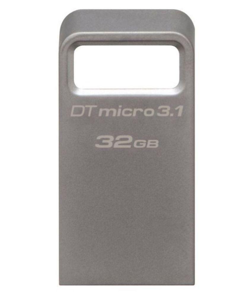 Kingston DataTraveler Micro 32GB USB 3.1 Utility Pendrive Pack of 1