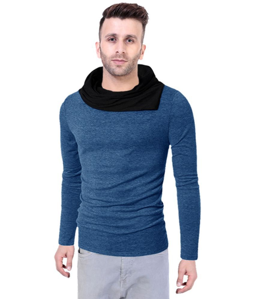 Try This Blue Full Sleeve T-Shirt