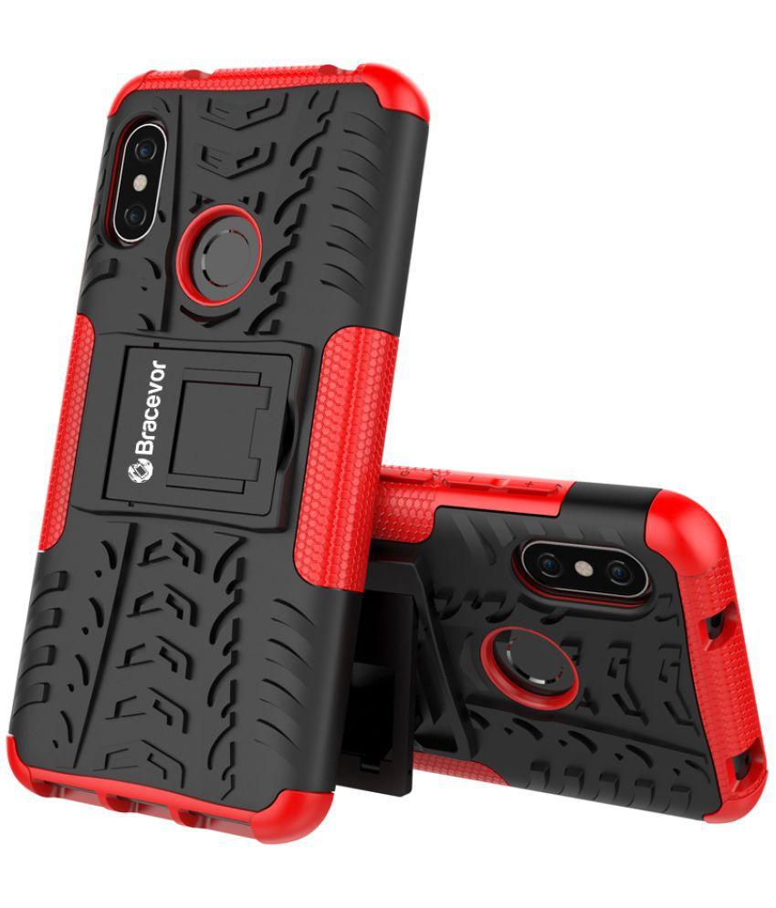 Xiaomi Redmi 6 Pro Cases with Stands Bracevor - Red