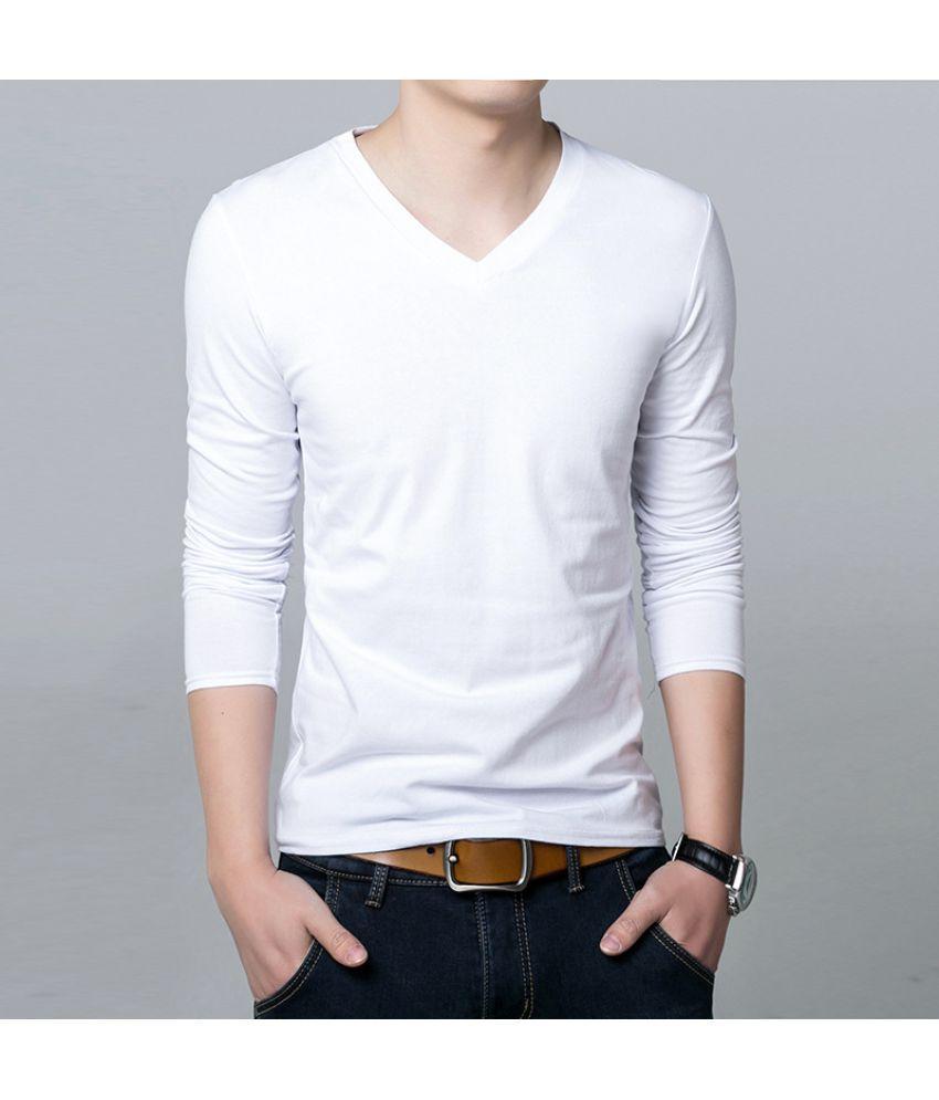 Epiphany White Full Sleeve T-Shirt Pack of 1
