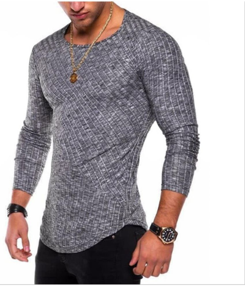 Epiphany grey Full Sleeve T-Shirt Pack of 1