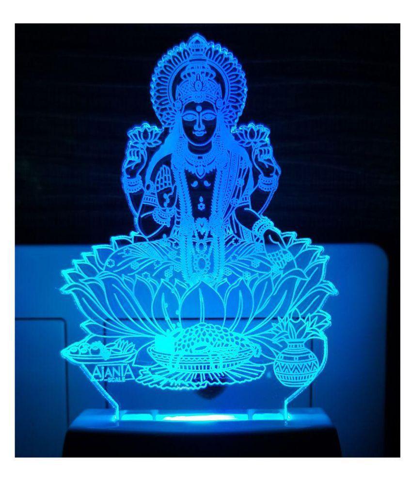 Ajanta Laxmi Code 2004 3D ( PEN STAND FREE ) Night Lamp Multi - Pack of 1