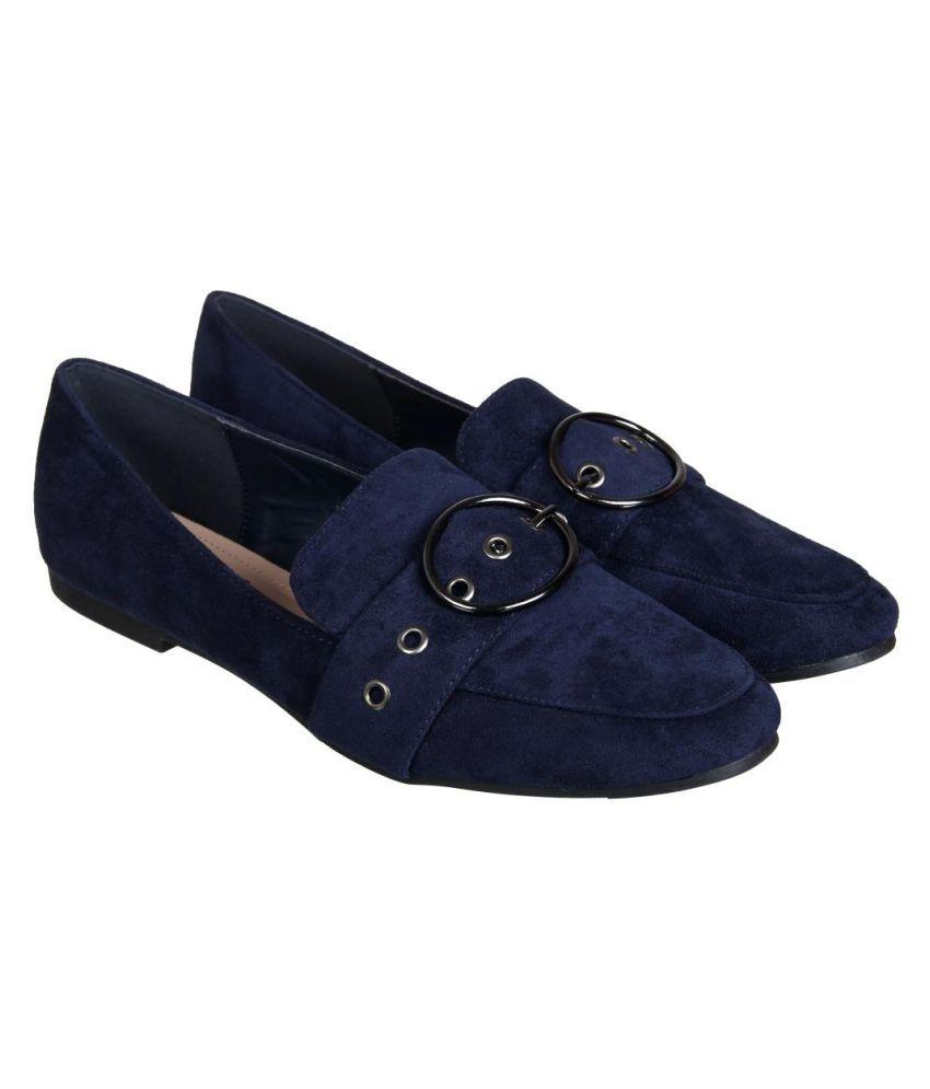 Flat N Heels Navy Casual Shoes