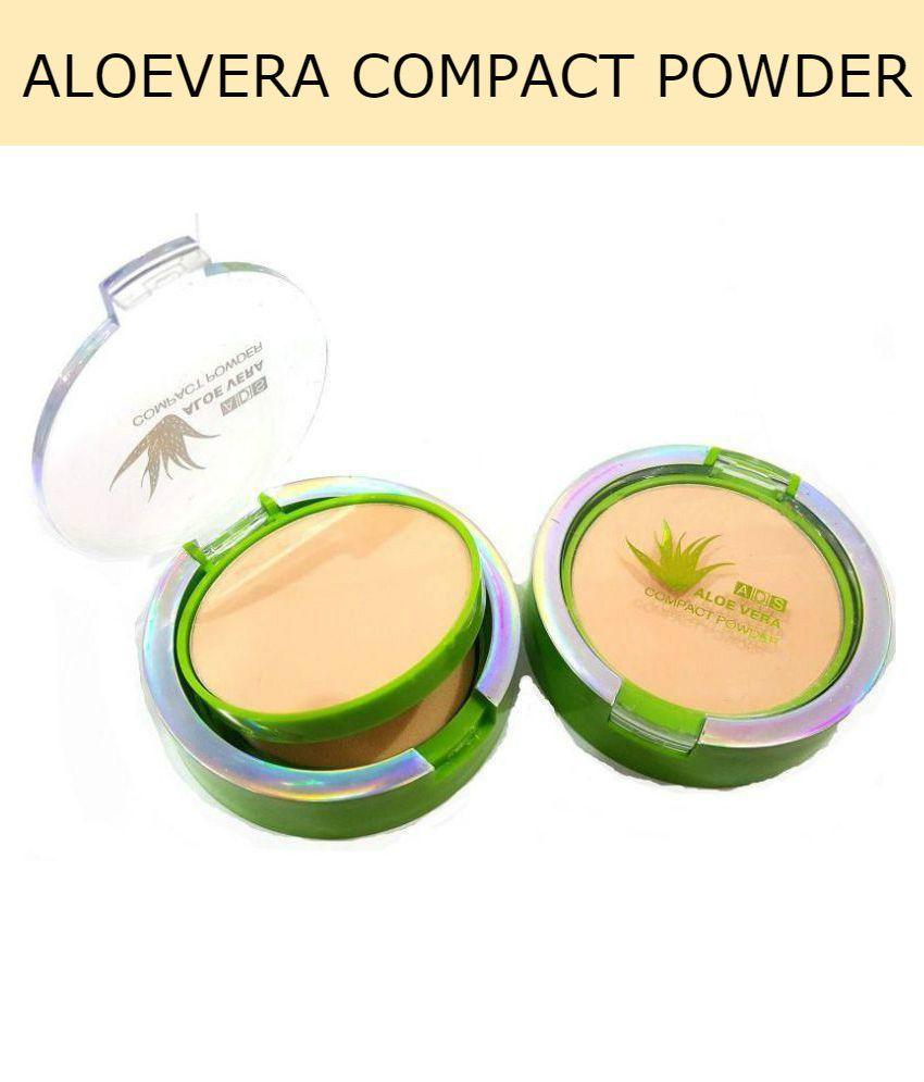 ADS Aloe Vera Pressed Powder Beige Compact 8 gm