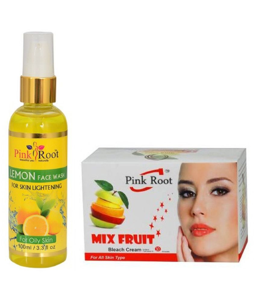 Pink Root Lemon Face Wash 100ml With Mix Fruit Bleach Day