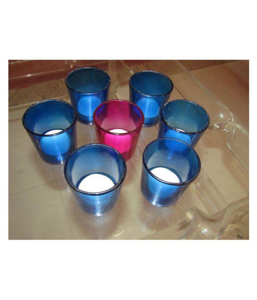 S DECOR'S Multicolour Wax Tea Light - Pack of 7