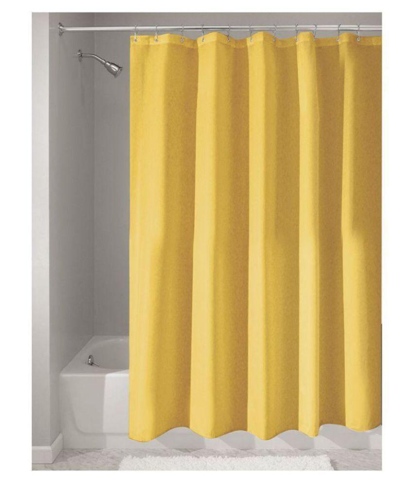 Draperi Set of 1 Shower Curtain Yellow 72x72