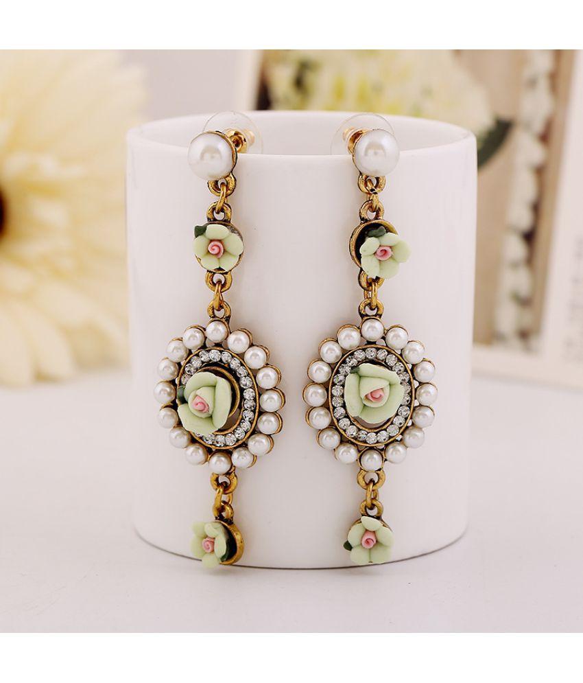 Retro Court Flower Earrings  Version Of Garden Earrings Ladies  Accessories Dd