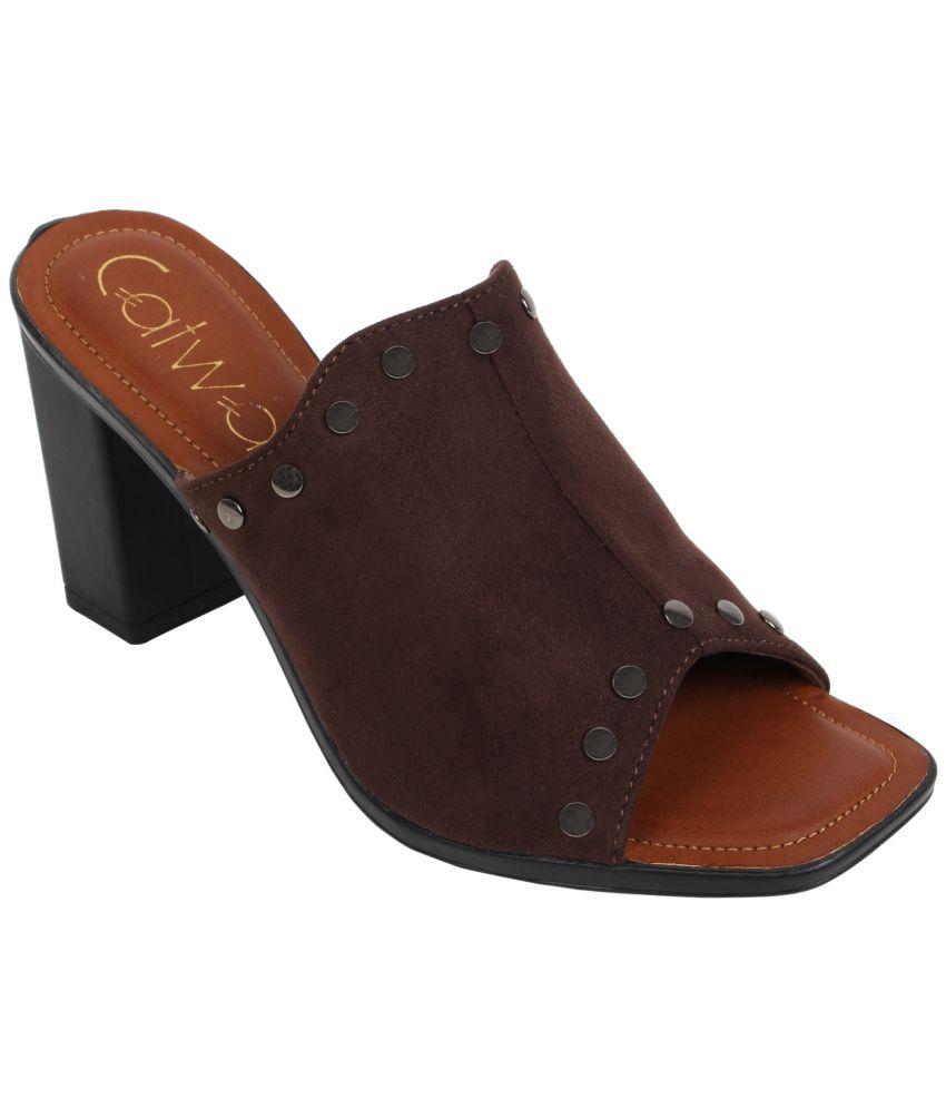 Catwalk Brown Block Heels