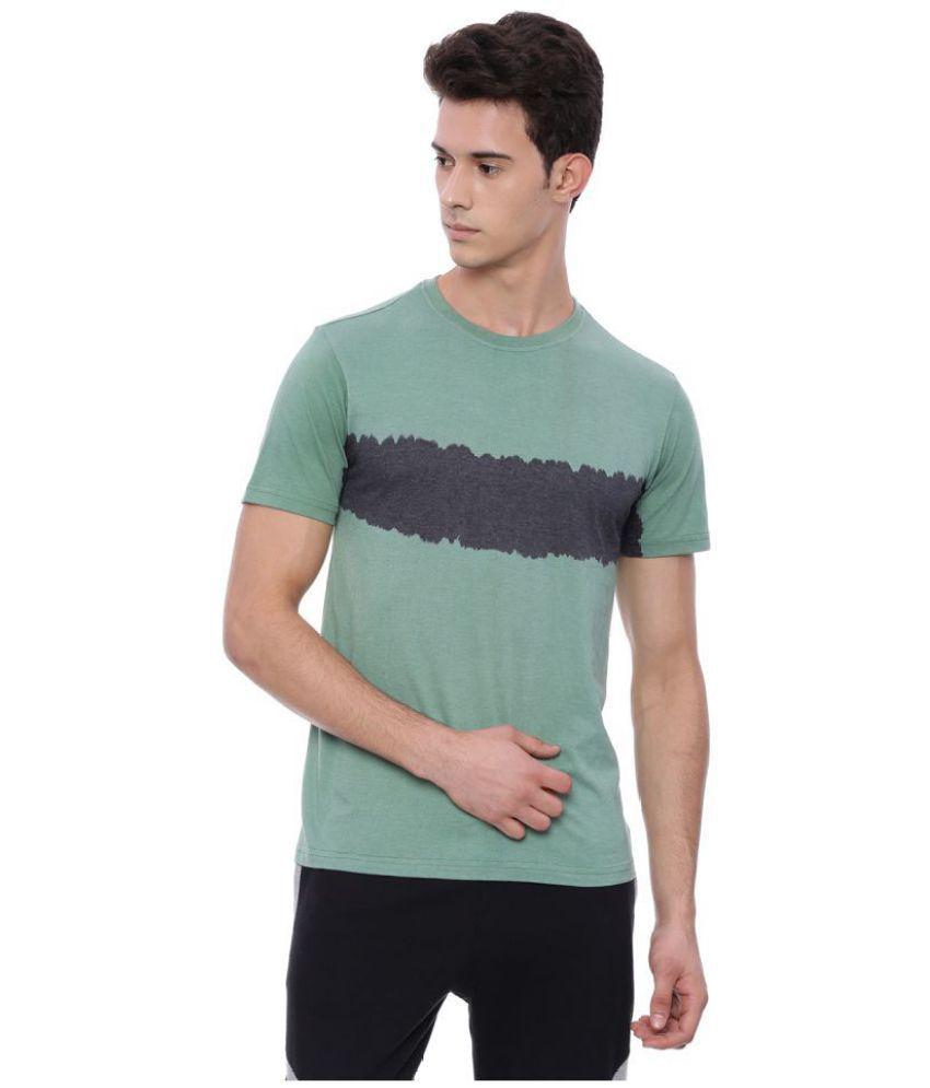 Deezeno Green Half Sleeve T-Shirt