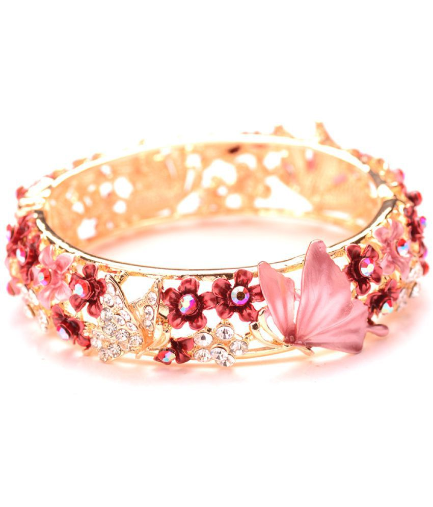 Jewelry Bracelet National Wind Palace Painted Flower Accessories With Diamond Opening Bracelet Fashion Jewelry Lady