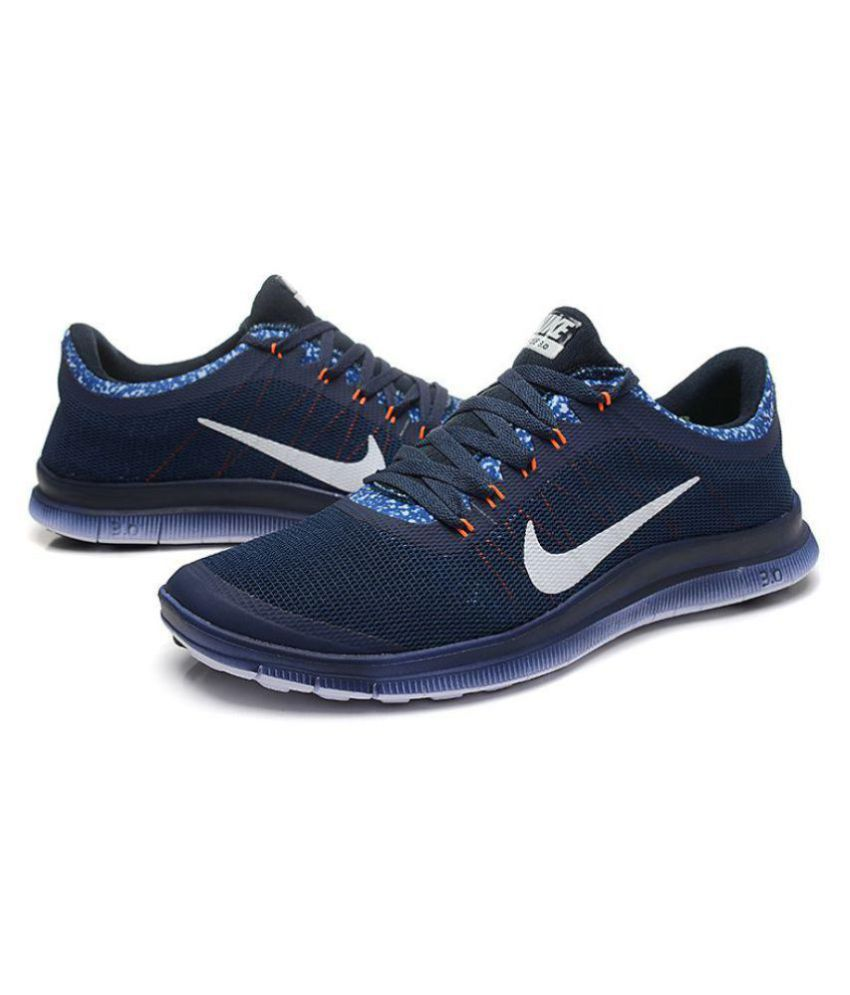 competitive price 19cf5 19fdf NIKE 2018 Free 3.0 Running Shoes Navy