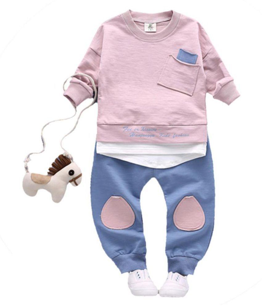 New 2Pcs/Set Autumn Kids Clothing Sets Children's Wear Cotton Casual Tracksuits Kids Clothes Sports Suit Children Sets Winter
