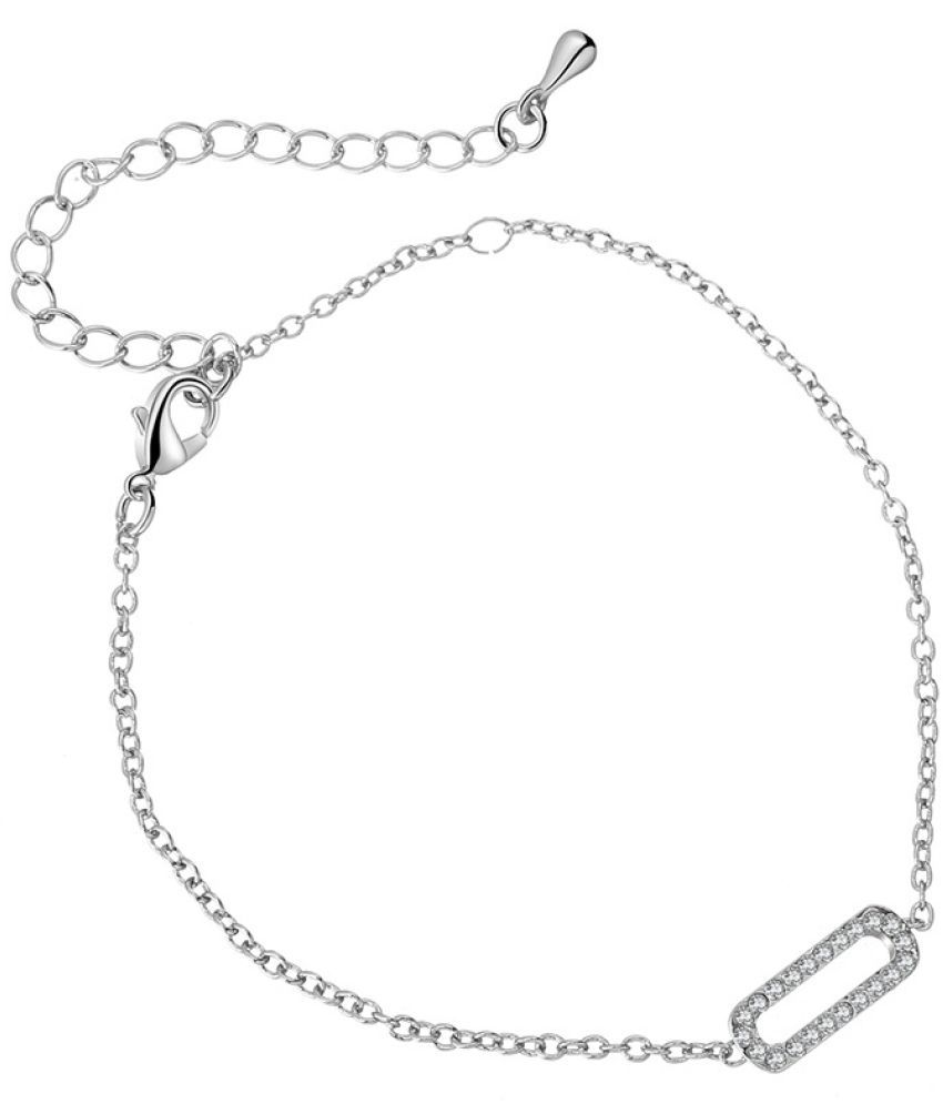 8 Words Anklets Women'S Fashion Simple Multi-Layer Stars Diamond Love Women'S Antique Silver Jewelry