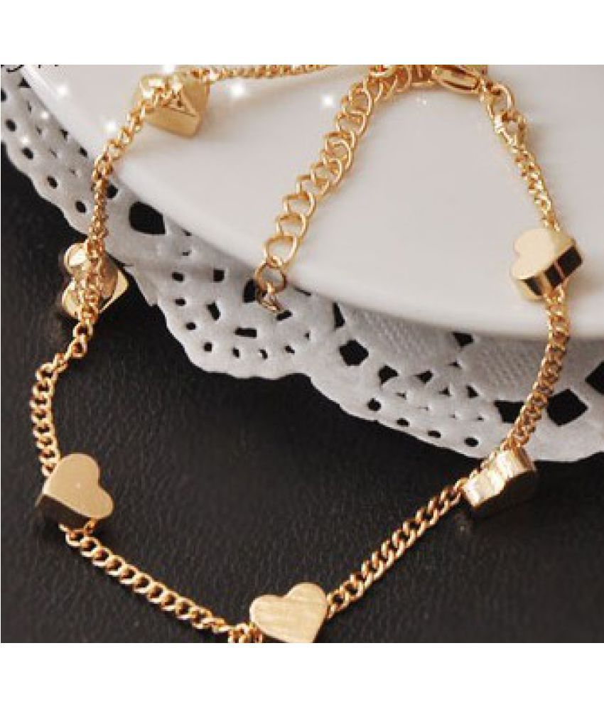 Blue Amoy Super Beauty Decorations Retro Many Love Simple Meticulous Simple Chain Bracelet Chain