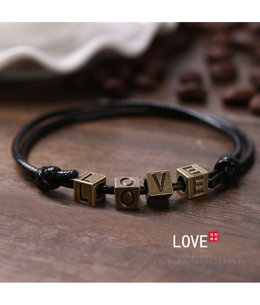 Dmade Version Of Retro Men'S Foot Chain Simple Women'S Black Rope Foot Rope Version Of Bracelet Jewelry Red Rope