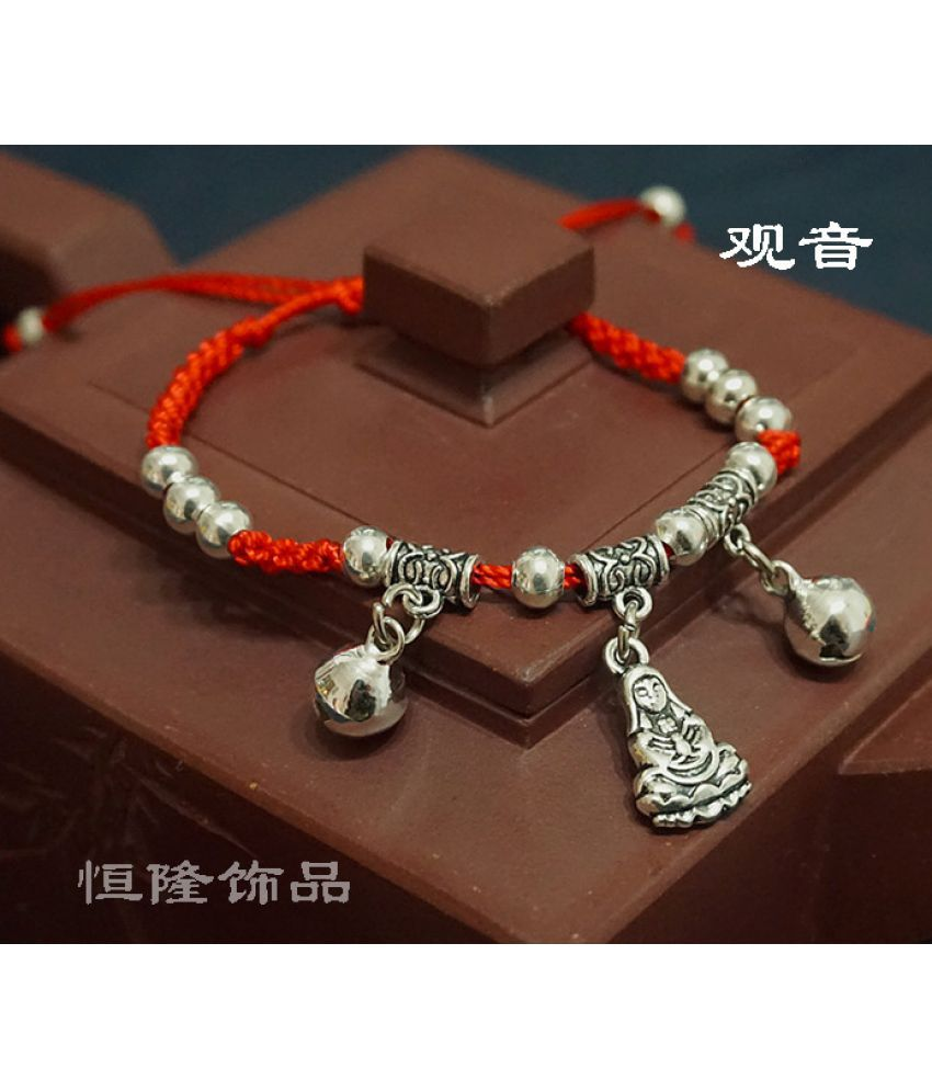 Ethnic Tibetan Silver Ornament Wind Pure Manual Weaving Children Miaoyin Night Bell Jue