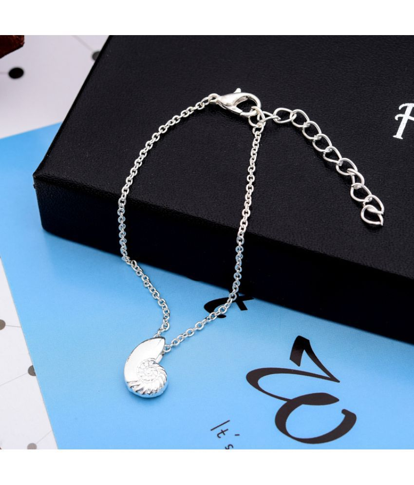 Fashion Conch Bracelet Gold-Plated Silver Cute S Shell  Bracelet Foot Chain  Supply