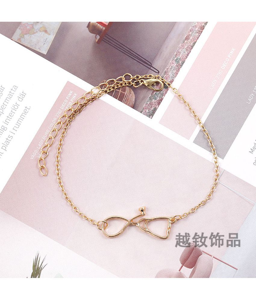 Hot Fashion Simple Fashion Popular Foot Ornaments Temperament Hundred Lap Street Pats Different Shape Footlet Chain Can Adjust Color Not Lose Color