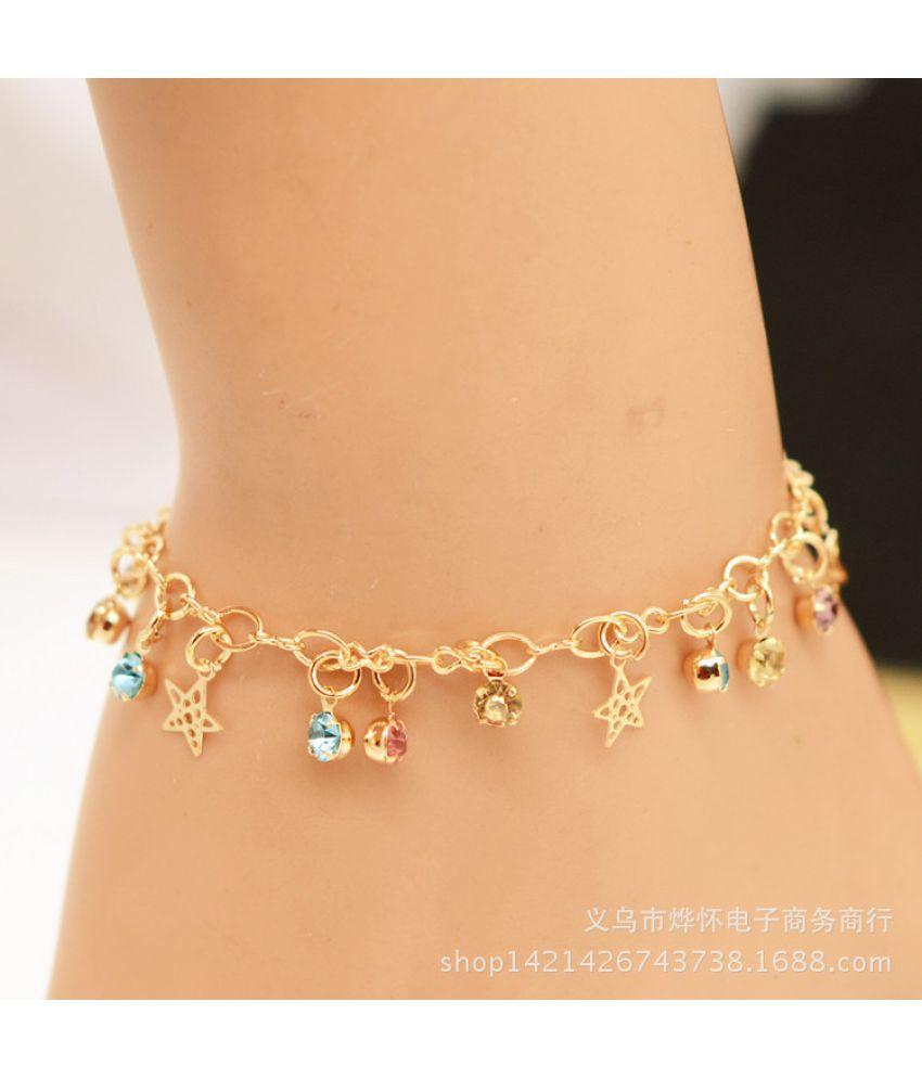 Jewelry Fashion Simple Flash Diamond Studded Star Ladies Bracelet Chain