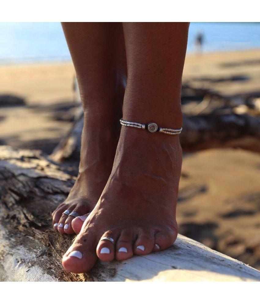 Jewelry Starfish Rune Om Yoga  Foot Chain National Retro Beach Foot Ring