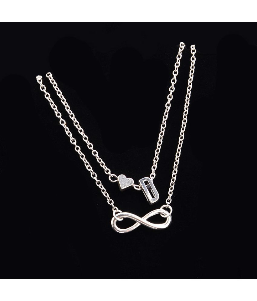 Love 26 Letter Alloy Anklet  Fashion Ladies Bracelet Chain Bracelet Set Of Jewelry