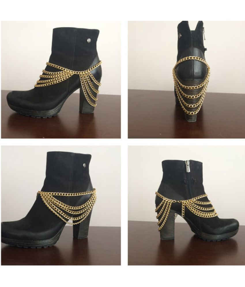 Newly Designed  Exaggerated Metal Multi-Layer Fashion Exquisite Foot Chain Jewelry Accessories