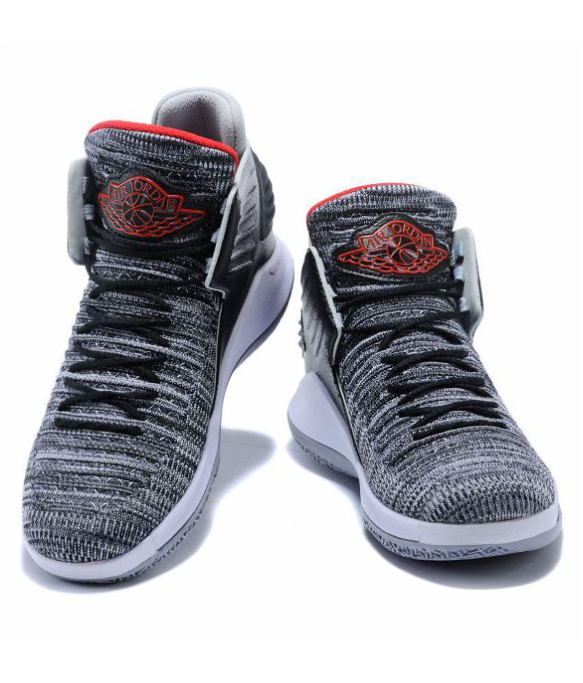 33a14665a4ef Nike Air Jordan XXXII Gray Basketball Shoes - Buy Nike Air Jordan XXXII  Gray Basketball Shoes Online at Best Prices in India on Snapdeal