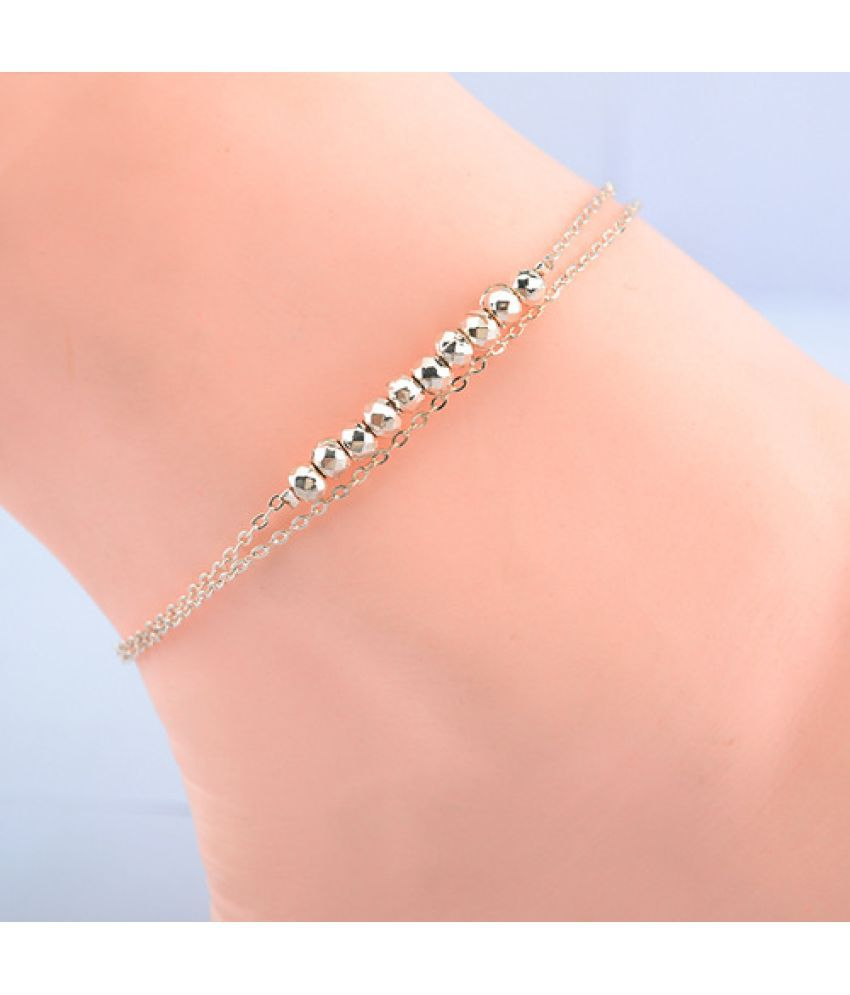 S2084 Version Of Fashion Temperament Love Bell Rose Flower Anklet Girl