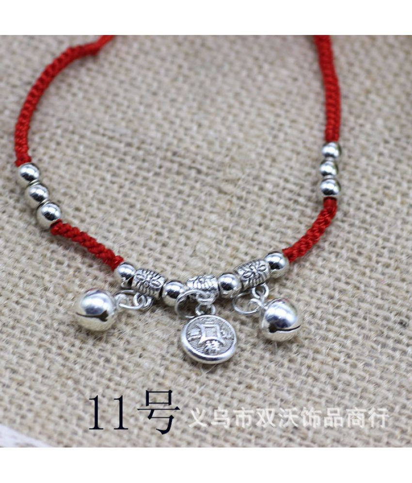 This Year Red Rope Bracelet Dwoven Long Life Lock Bracelet Chain