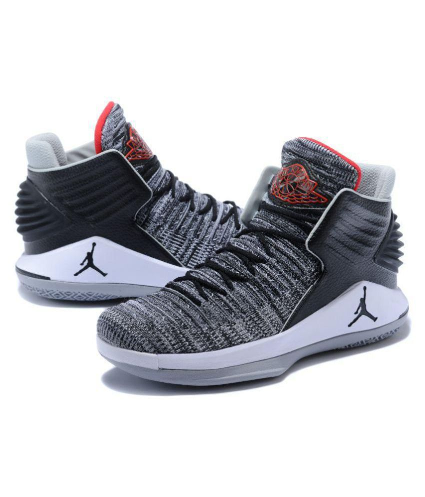 Nike Air Jordan XXXII Gray Basketball Shoes - Buy Nike Air Jordan XXXII  Gray Basketball Shoes Online at Best Prices in India on Snapdeal 1c8ad460d