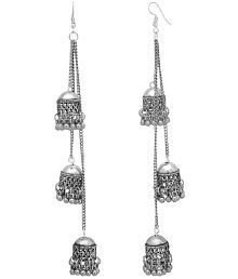 1cded6ccf Quick View. Tiptop Afghani Kashmiri Oxidized Silver Long Earrings.