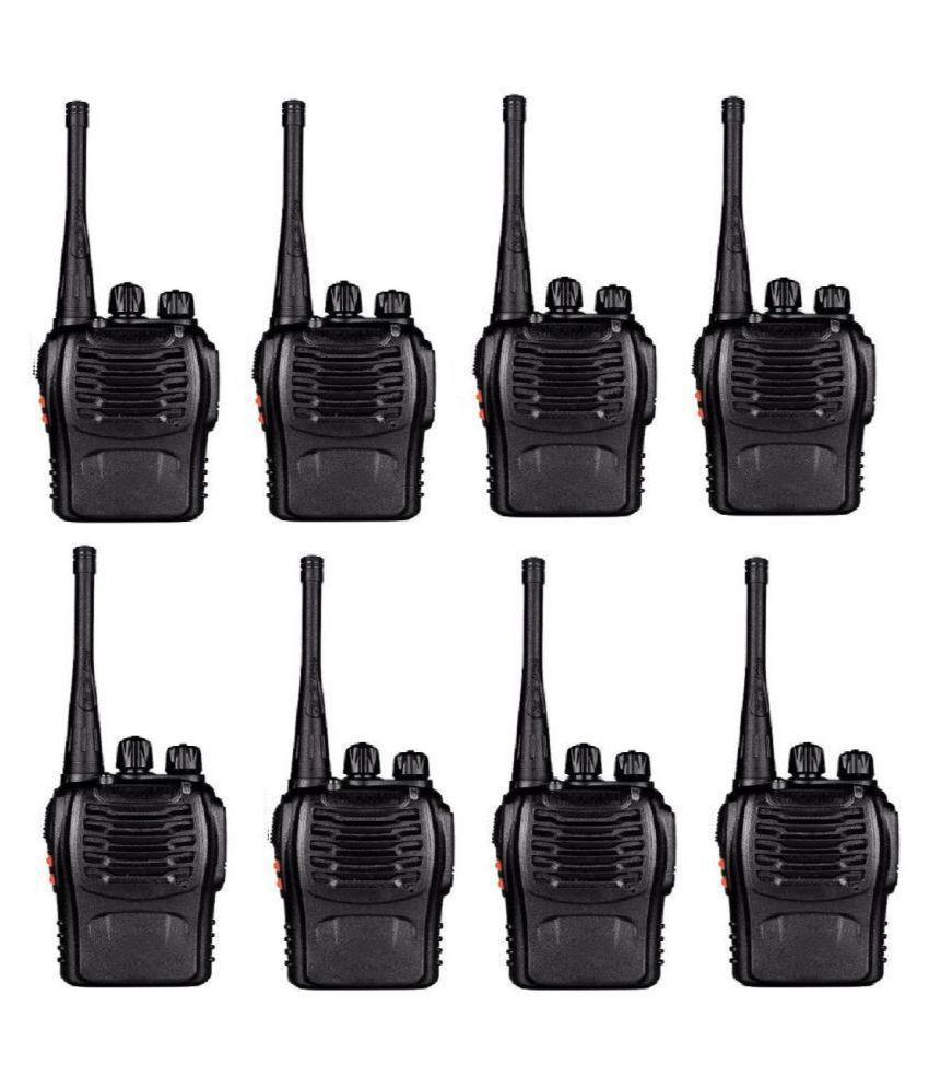 BF-888S UHF CTCSS/DcsHandheld Radio Walkie Talkie Two Way Radio Long Range Black 8 Pack