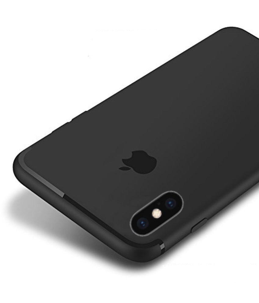 Apple iPhone XS Max Soft Silicon Cases Bleiz - Black