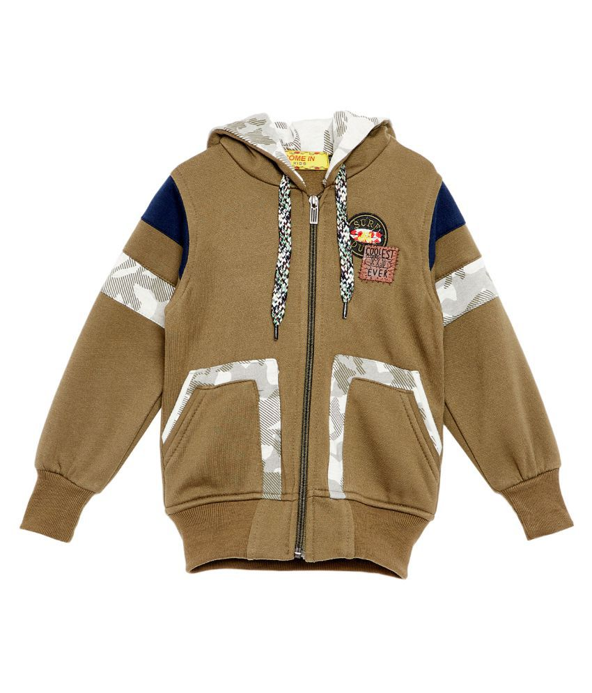 Come In Kids Girls Winter Wear Sweatshirt.