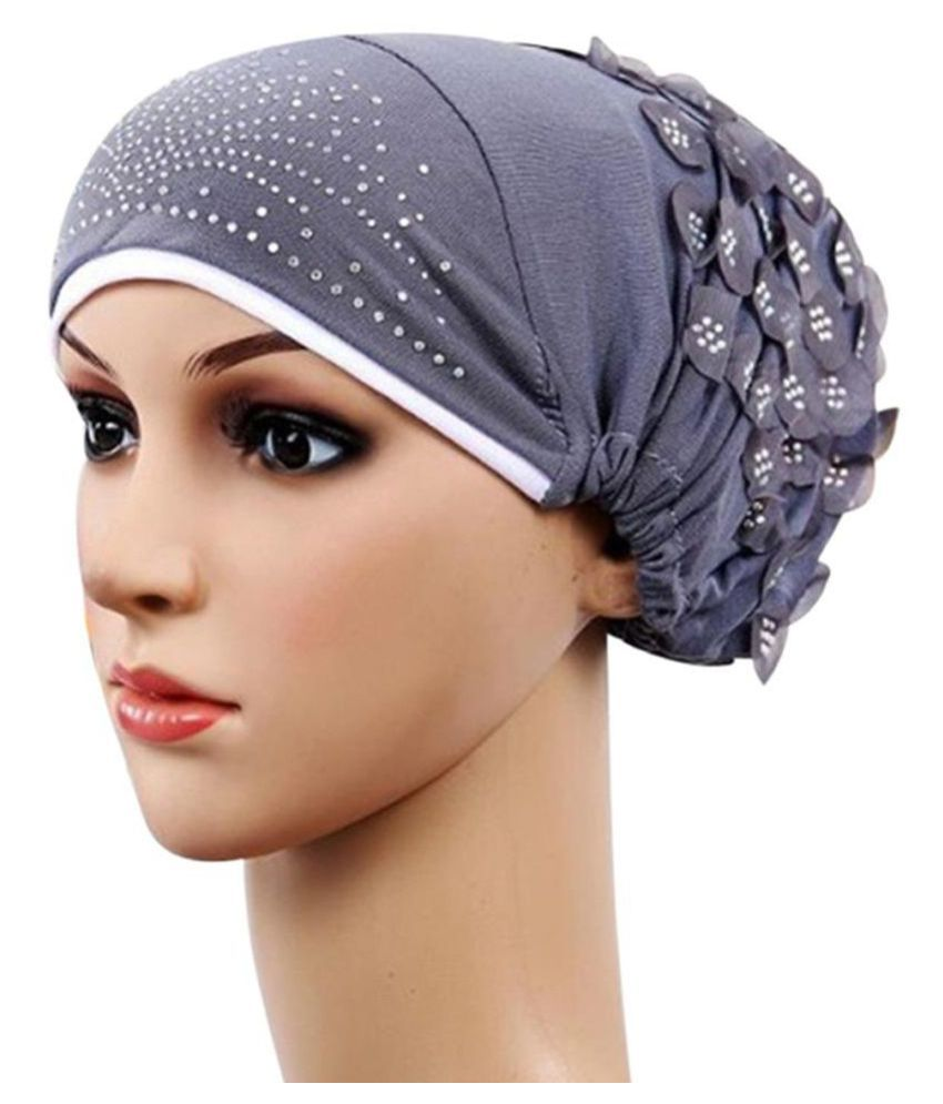04dd8a87d06 Fashion Women Muslim Stretch Turban Hat Chemo Cap Hair Loss Head Scarf Hijab  Cap  Buy Online at Low Price in India - Snapdeal