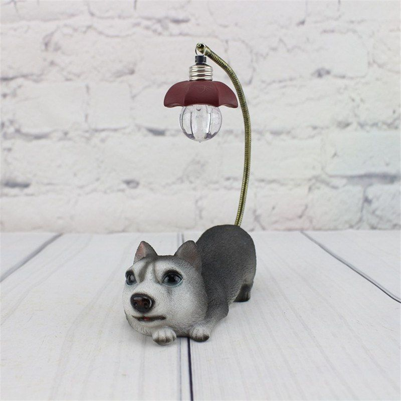 MKcat Creative LED Night Light Cute Simulation Dog Table Lamp Home Decoration Ornament \n Night Lamp Brown - Pack of 1