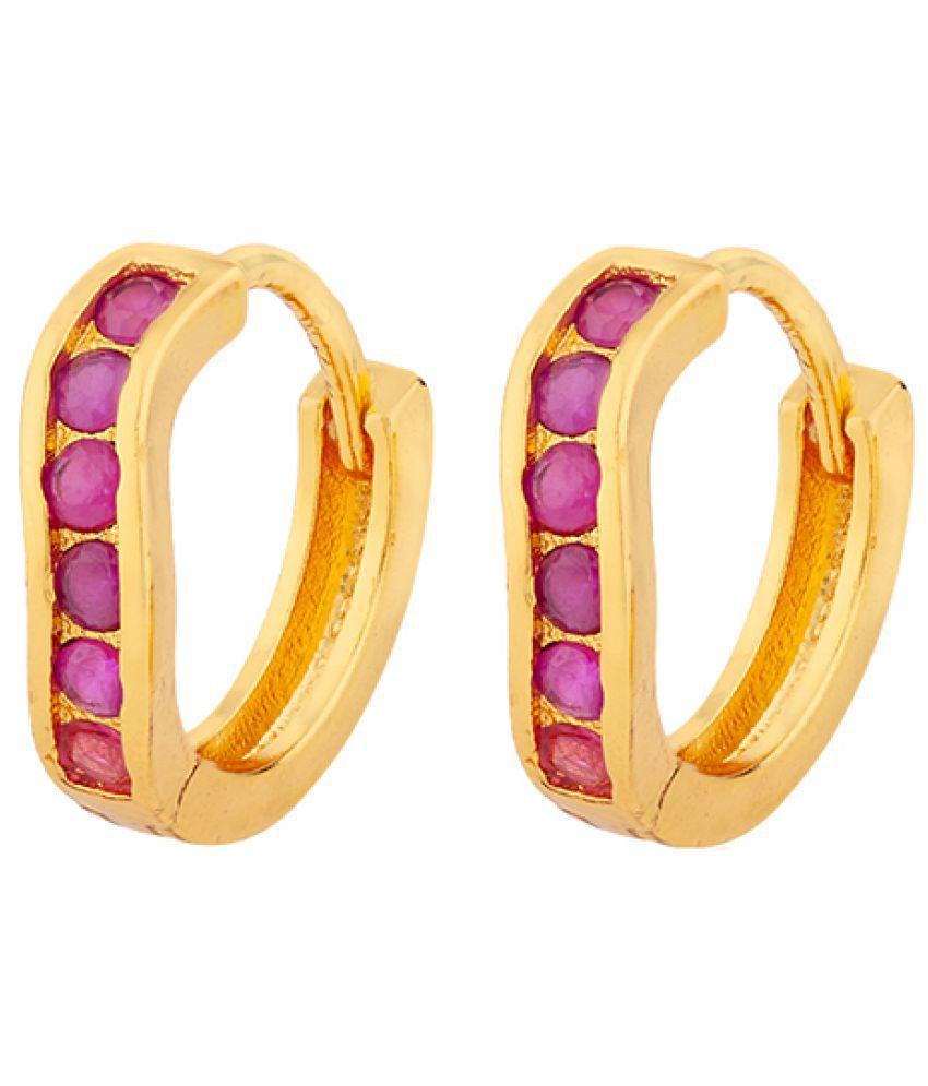 Voylla Little Gem Micro Hoop Earrings For Women
