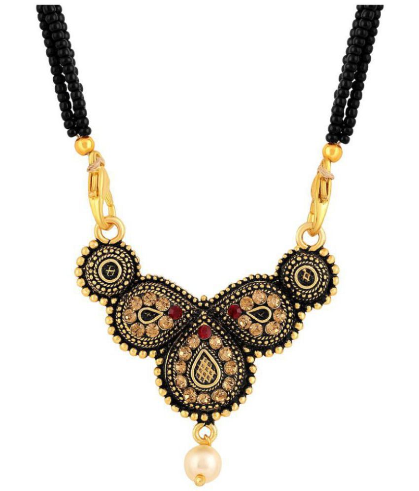 0504bb4937791 Asmitta Traditional Oxidised Gold Plated Opera Style Lct Stone ...