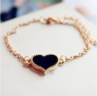 Japan Korea Jewelry Joker Small Love Clover Shape Bracelet Foot Chain Version Of Sweet Fashion
