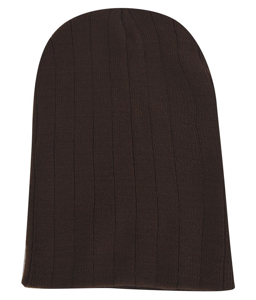 97821f9e189b5a ... DRUNKEN Men & Women Ribbed knitt stylish woollen Beanie Cap Brown ...