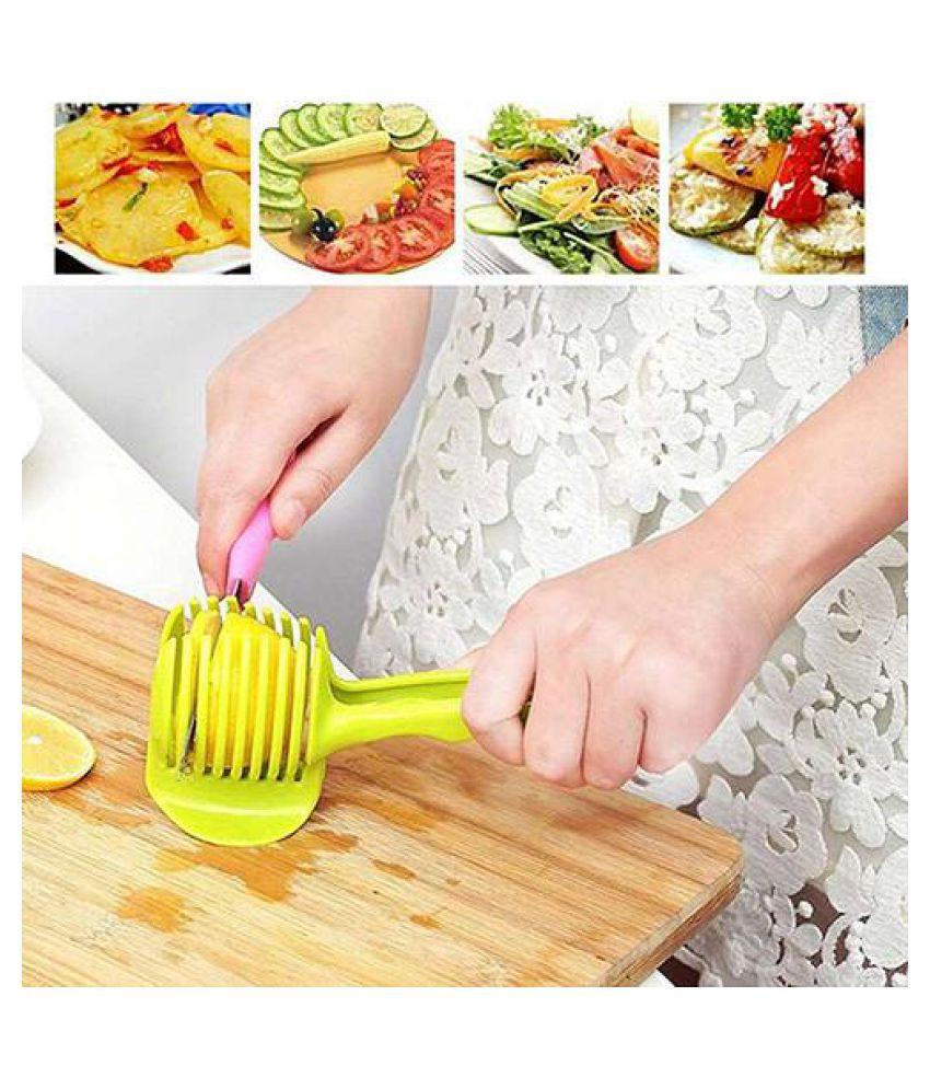 Food Fruit Vegetable Slicer Tomato Clip Holder Onions Cutter Kitchen Gadget