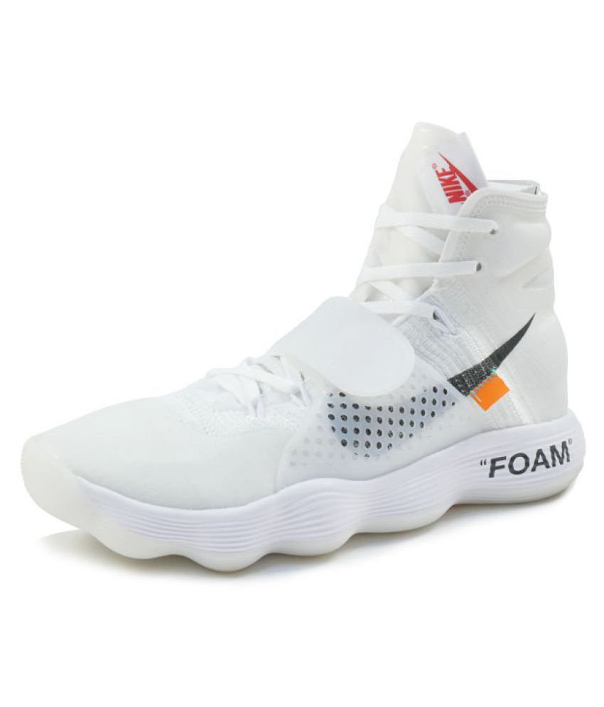 f63fe82bb5d4d Nike React Hyperdunk Flyknit Off- White Basketball Shoes - Buy Nike React Hyperdunk  Flyknit Off- White Basketball Shoes Online at Best Prices in India on ...