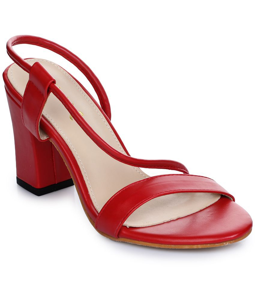 Aber & Q Red Block Heels