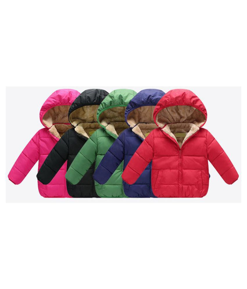Baby Boys Girls Warm Coat Berber Fleece Winter Long Sleeve Jacket Children Cotton Padded Clothes kids outwear