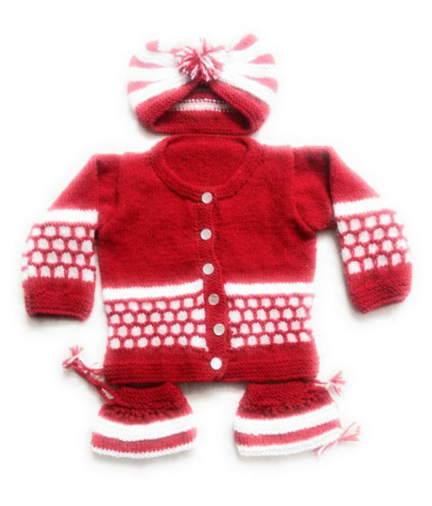 New Jain Traders Hand Made New Born Baby Woolen Knitted Baby