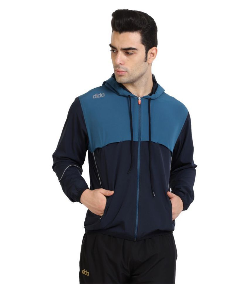 Dida Navy Polyester Terry Jacket