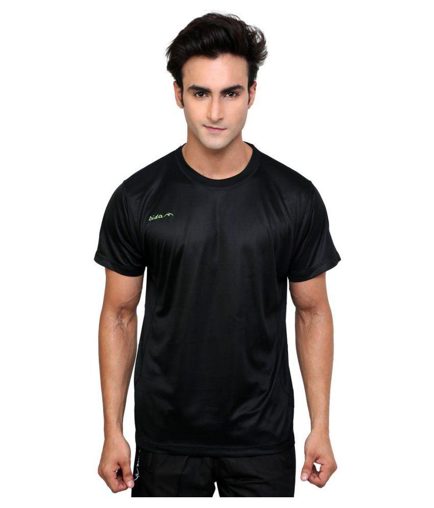 Dida Black Polyester T-Shirt