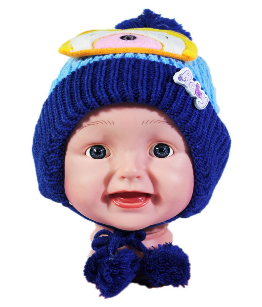 Kids Stylish Winter Cap  Woollen Cap (Blue)  Buy Online at Low Price in  India - Snapdeal b0fe658e8c55