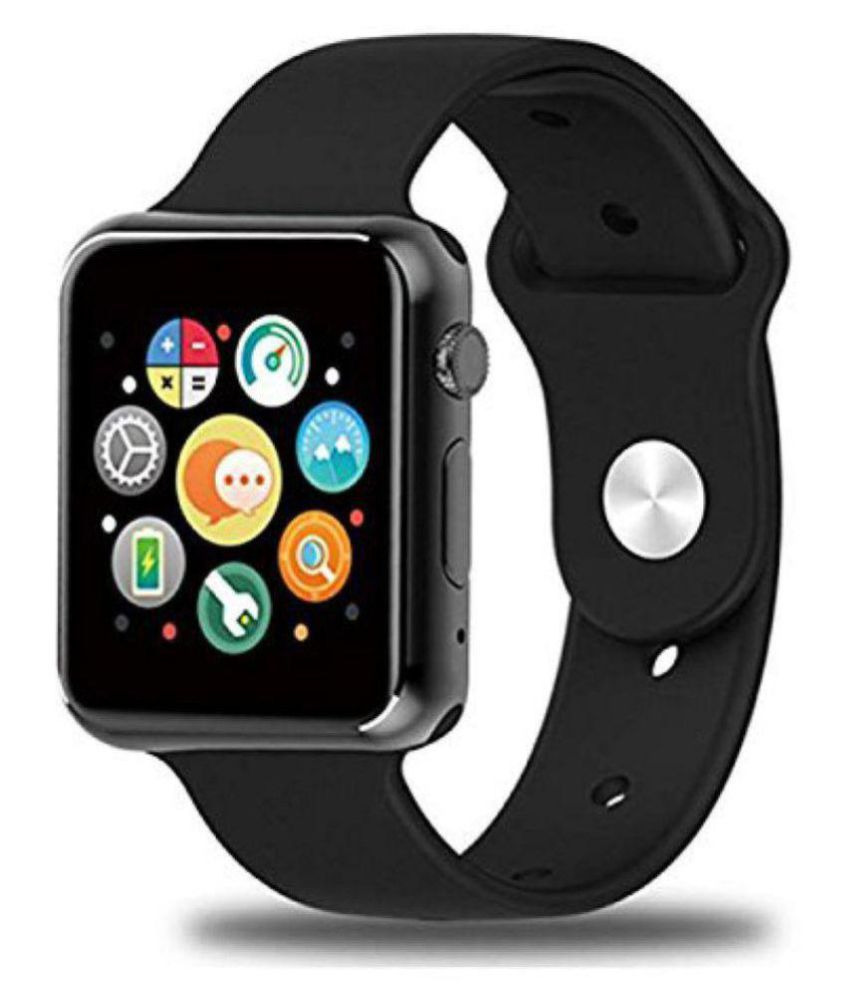 964c94ae241 SANNIC A1 Bluetooth SIM supported SMART WATCH (Black) Smart Watches -  Wearable   Smartwatches Online at Low Prices